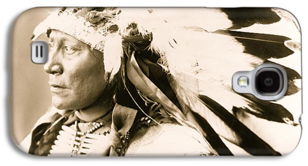 1850-1913 Galaxy S4 Cases - Chief Hollow Horn Bear Galaxy S4 Case by American School