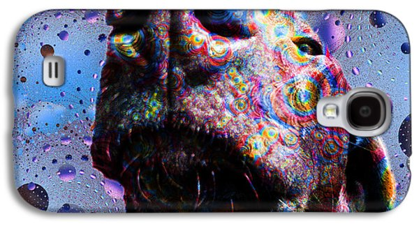 Dogs Digital Art Galaxy S4 Cases - Chocolate Lab Nose Galaxy S4 Case by Roger Wedegis