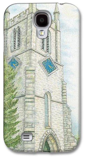 Rural Art Galaxy S4 Cases - Church Clock Galaxy S4 Case by Sandra Moore