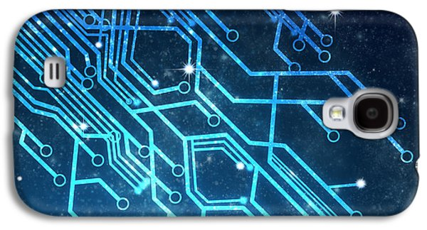 Graphic Photographs Galaxy S4 Cases - Circuit Board Technology Galaxy S4 Case by Setsiri Silapasuwanchai