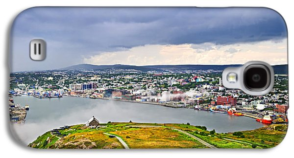 Foggy Ocean Galaxy S4 Cases - Cityscape of Saint Johns from Signal Hill Galaxy S4 Case by Elena Elisseeva
