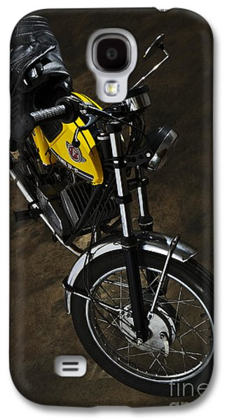 Component Photographs Galaxy S4 Cases - Classic Zundapp bike XF-17 in the garage Galaxy S4 Case by Angelo DeVal