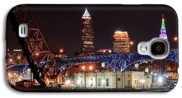 Veterans Stadium Galaxy S4 Cases - Cleveland Panorama Galaxy S4 Case by Frozen in Time Fine Art Photography