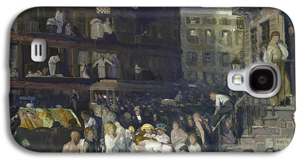 Laundry Paintings Galaxy S4 Cases - Cliff Dwellers Galaxy S4 Case by George Wesley Bellows
