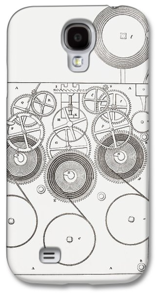 Clock With Chimes. From The Cyclopaedia Galaxy S4 Case by Vintage Design Pics