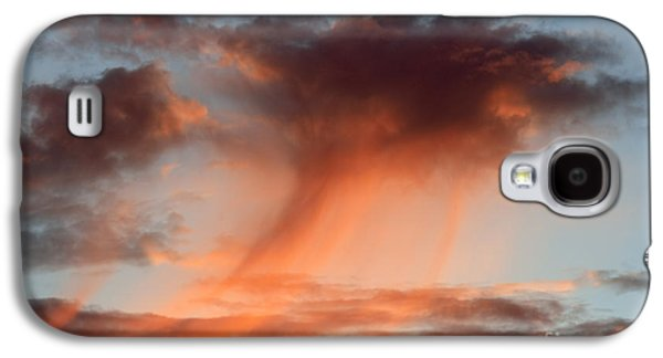 Gloaming Galaxy S4 Cases - Clouds At Sunset Galaxy S4 Case by Michal Boubin