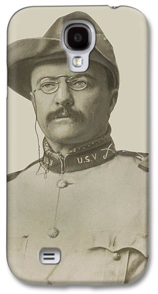 Landmarks Photographs Galaxy S4 Cases - Colonel Theodore Roosevelt Galaxy S4 Case by War Is Hell Store