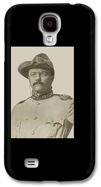 President Galaxy S4 Cases - Colonel Theodore Roosevelt Galaxy S4 Case by War Is Hell Store