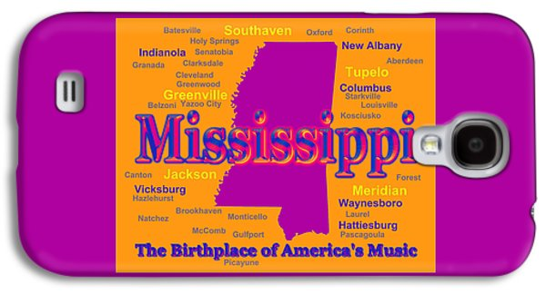 Hattiesburg Galaxy S4 Cases - Colorful Mississippi State Pride Map Silhouette  Galaxy S4 Case by Keith Webber Jr