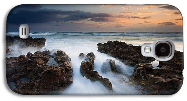 Rock Galaxy S4 Cases - Coral Cove Dawn Galaxy S4 Case by Mike  Dawson