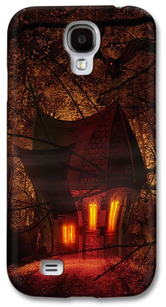 Architecture Mixed Media Galaxy S4 Cases - Crooked House Galaxy S4 Case by Svetlana Sewell