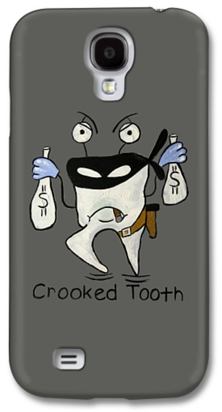 Shirt Digital Galaxy S4 Cases - Crooked Tooth Galaxy S4 Case by Anthony Falbo