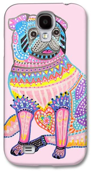 Puppy Digital Art Galaxy S4 Cases - Cute Little Pug Galaxy S4 Case by Keira  Lagunas