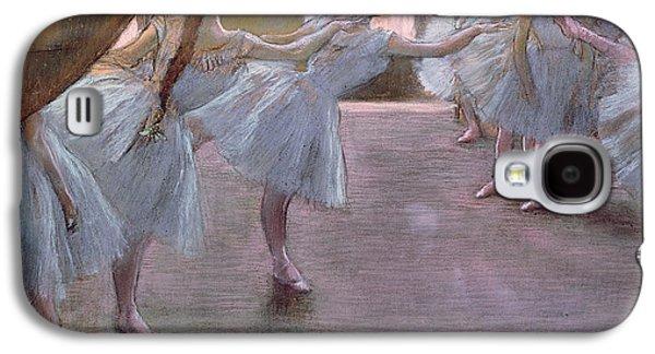 Cardboard Galaxy S4 Cases - Dancers at Rehearsal Galaxy S4 Case by Edgar Degas