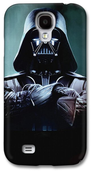 Poster Galaxy S4 Cases - Darth Vader Star Wars  Galaxy S4 Case by Michael Greenaway