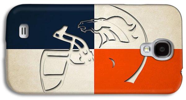 Denver Broncos Helmet Galaxy S4 Case by Joe Hamilton