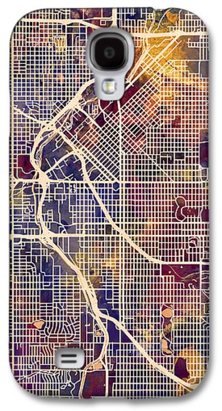 Urban Street Galaxy S4 Cases - Denver Colorado Street Map Galaxy S4 Case by Michael Tompsett