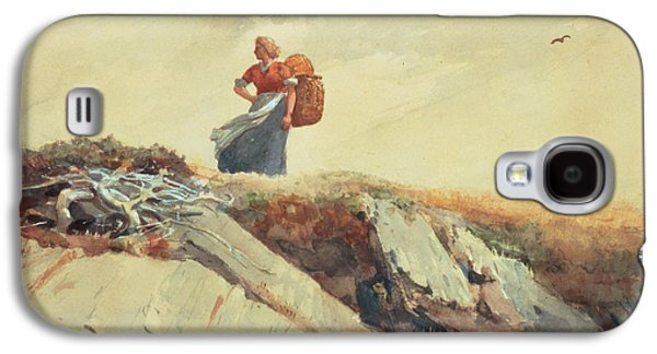 Down The Cliff Galaxy S4 Case by Winslow Homer
