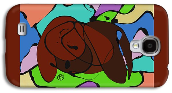 Abstract Digital Paintings Galaxy S4 Cases - Dreaming Galaxy S4 Case by Nancy Carlton