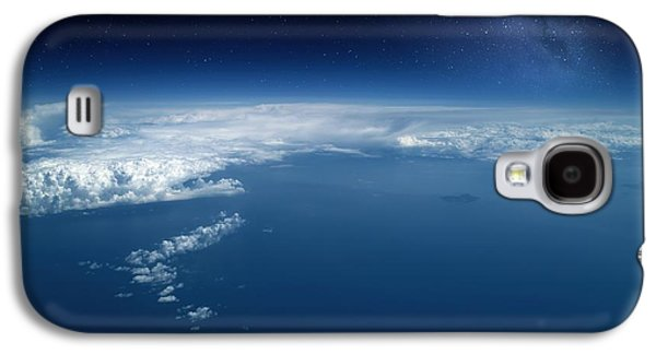 Jet Star Galaxy S4 Cases - Earth From High-altitude Aircraft Galaxy S4 Case by Detlev van Ravenswaay