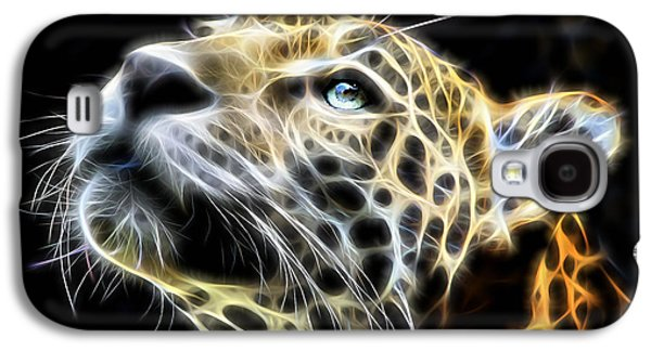 Electric Leopard Wall Art Collection Galaxy S4 Case by Marvin Blaine