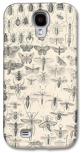 Botanical Galaxy S4 Cases - Entomology Galaxy S4 Case by Captn Brown