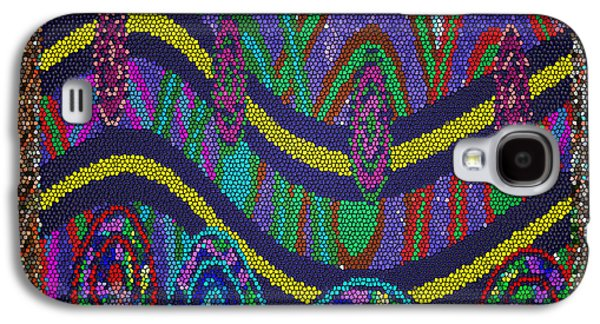 Abstract Digital Art Galaxy S4 Cases - Ethnic Wedding Decorations Abstract usring Fabrics Ribbons graphic elements Galaxy S4 Case by Navin Joshi