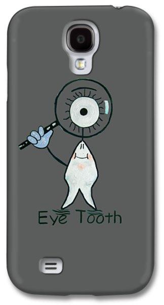 Shirt Digital Galaxy S4 Cases - Eye Tooth Galaxy S4 Case by Anthony Falbo