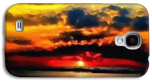 Abstract Digital Pastels Galaxy S4 Cases - Fantasy Sunset H B Galaxy S4 Case by Gert J Rheeders
