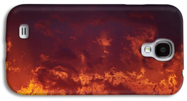 Gloaming Galaxy S4 Cases - Fiery Clouds Galaxy S4 Case by Michal Boubin