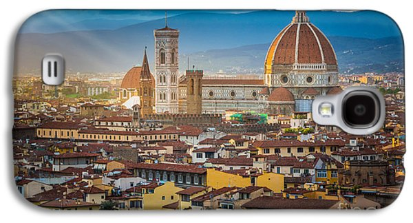 Tuscan Hills Galaxy S4 Cases - Firenze Duomo Galaxy S4 Case by Inge Johnsson