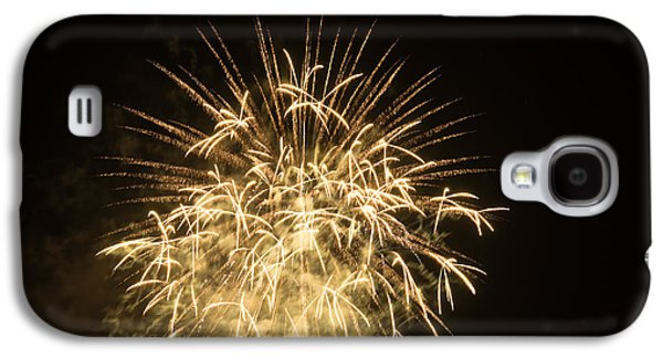 4th July Pyrography Galaxy S4 Cases - Fireworks Galaxy S4 Case by Erich Boehm
