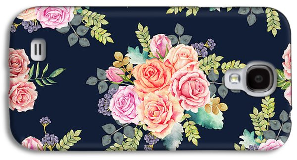 Floral Pattern 1 Galaxy S4 Case by Stanley Wong