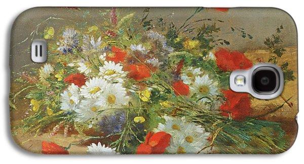 Flower Study Galaxy S4 Case by Eugene Henri Cauchois