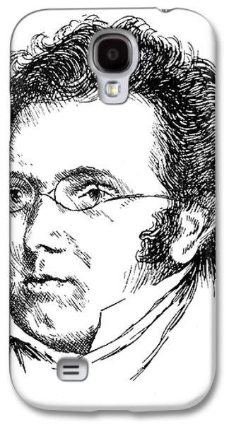 Sideburns Galaxy S4 Cases - Franz Schubert (1797-1828) Galaxy S4 Case by Granger