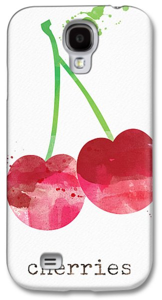 Healthy Galaxy S4 Cases - Fresh Cherries Galaxy S4 Case by Linda Woods