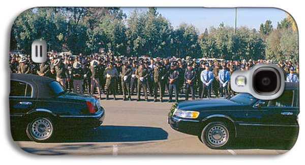 Funeral Service For Police Officer Galaxy S4 Case by Panoramic Images