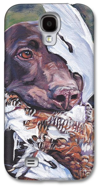 Recently Sold -  - Puppies Galaxy S4 Cases - German Shorthaired Pointer Galaxy S4 Case by Lee Ann Shepard