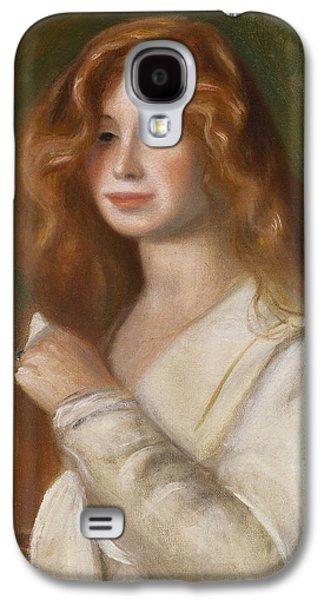 Girl Combing Her Hair Galaxy S4 Case by Pierre Auguste Renoir