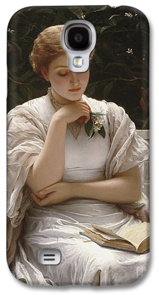 Girl Reading Galaxy S4 Case by Charles Edward Perugini