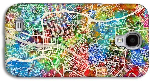 Urban Street Galaxy S4 Cases - Glasgow Street Map Galaxy S4 Case by Michael Tompsett
