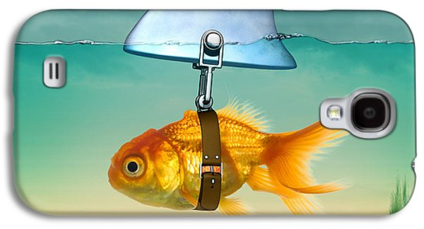 Animation Galaxy S4 Cases - Gold Fish  Galaxy S4 Case by Mark Ashkenazi