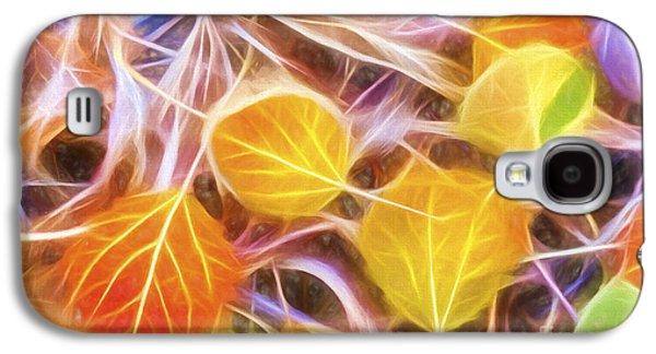 Nature Abstracts Galaxy S4 Cases - Golden Autumn Galaxy S4 Case by Veikko Suikkanen