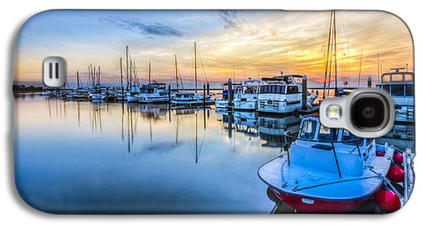 Sailboats At The Dock Galaxy S4 Cases - Good Times Galaxy S4 Case by Debra and Dave Vanderlaan