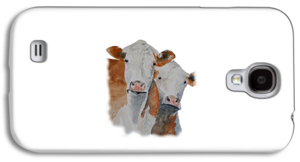 Angus Steer Paintings Galaxy S4 Cases - Got Hay? Galaxy S4 Case by Gary Thomas