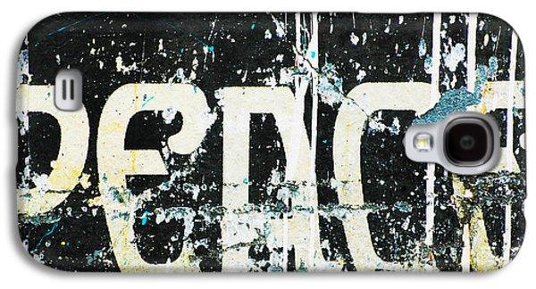 Shower Digital Galaxy S4 Cases - Graffiti Peace Art Print Galaxy S4 Case by ArtyZen Studios - ArtyZen Home