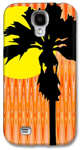 Nature Abstracts Galaxy S4 Cases - Graphic Palm Tree Ill Galaxy S4 Case by Kathy Franklin