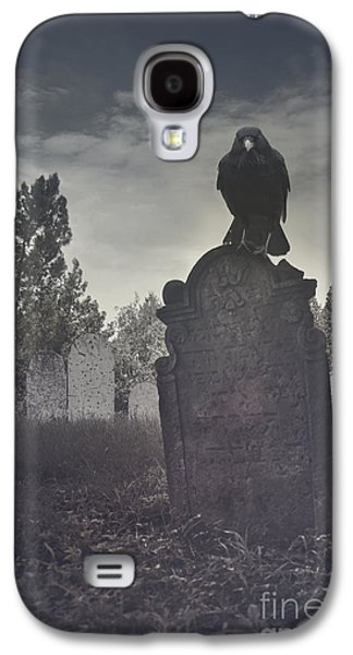 Fantasy Pyrography Galaxy S4 Cases - Graveyard Galaxy S4 Case by Jelena Jovanovic