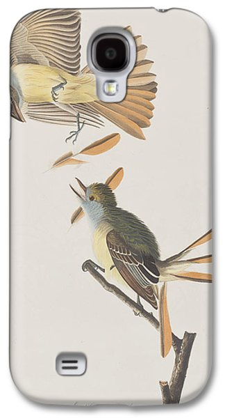 Great Crested Flycatcher Galaxy S4 Case by John James Audubon