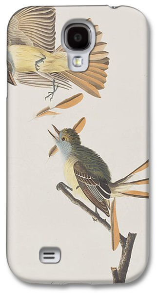 Great Birds Galaxy S4 Cases - Great Crested Flycatcher Galaxy S4 Case by John James Audubon